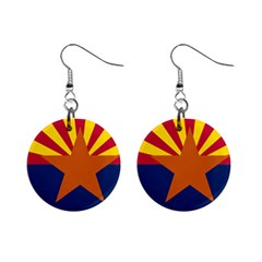 Flag Map Of Arizona Mini Button Earrings by abbeyz71