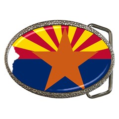 Flag Map Of Arizona Belt Buckles by abbeyz71