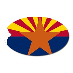 Flag Map Of Arizona Oval Magnet by abbeyz71