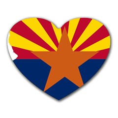 Flag Map Of Arizona Heart Mousepads by abbeyz71