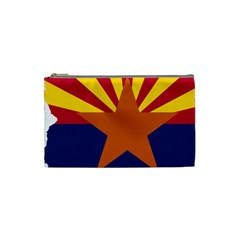 Flag Map Of Arizona Cosmetic Bag (small) by abbeyz71