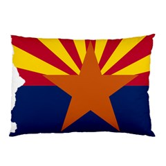 Flag Map Of Arizona Pillow Case (two Sides) by abbeyz71