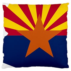 Flag Map Of Arizona Large Cushion Case (two Sides) by abbeyz71