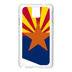 Flag Map Of Arizona Samsung Galaxy Note 3 N9005 Case (white) by abbeyz71