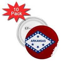 Flag Map Of Arkansas 1 75  Buttons (10 Pack) by abbeyz71
