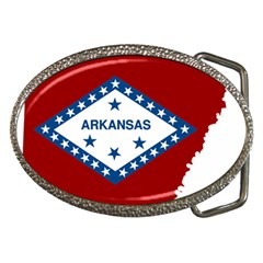 Flag Map Of Arkansas Belt Buckles by abbeyz71