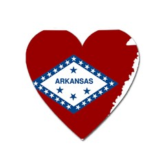 Flag Map Of Arkansas Heart Magnet by abbeyz71