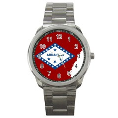Flag Map Of Arkansas Sport Metal Watch