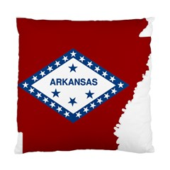 Flag Map Of Arkansas Standard Cushion Case (two Sides) by abbeyz71