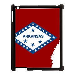 Flag Map Of Arkansas Apple Ipad 3/4 Case (black) by abbeyz71