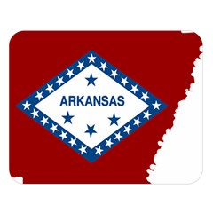 Flag Map Of Arkansas Double Sided Flano Blanket (large)  by abbeyz71