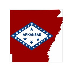 Flag Map Of Arkansas Small Satin Scarf (square) by abbeyz71