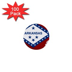 Flag Map Of Arkansas 1  Mini Buttons (100 Pack)  by abbeyz71