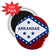 Flag Map Of Arkansas 2 25  Magnets (100 Pack)  by abbeyz71