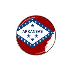 Flag Map Of Arkansas Hat Clip Ball Marker by abbeyz71