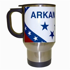 Flag Map Of Arkansas Travel Mugs (white) by abbeyz71