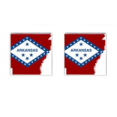 Flag Map Of Arkansas Cufflinks (square) by abbeyz71