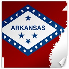 Flag Map Of Arkansas Canvas 16  X 16  by abbeyz71