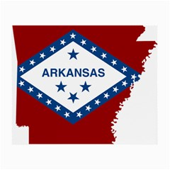 Flag Map Of Arkansas Small Glasses Cloth (2 Side) by abbeyz71