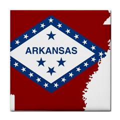 Flag Map Of Arkansas Face Towel by abbeyz71