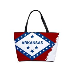 Flag Map Of Arkansas Classic Shoulder Handbag by abbeyz71