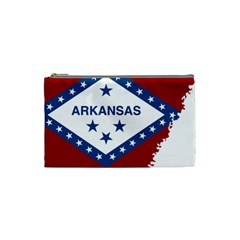 Flag Map Of Arkansas Cosmetic Bag (small) by abbeyz71