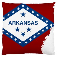 Flag Map Of Arkansas Large Cushion Case (two Sides) by abbeyz71