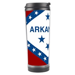 Flag Map Of Arkansas Travel Tumbler by abbeyz71