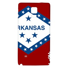 Flag Map Of Arkansas Samsung Note 4 Hardshell Back Case by abbeyz71