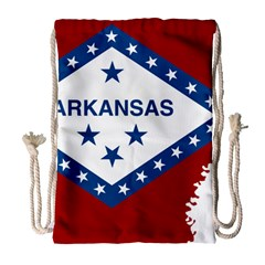 Flag Map Of Arkansas Drawstring Bag (large) by abbeyz71