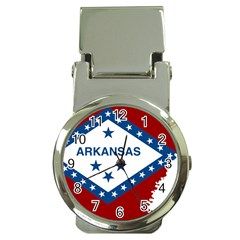Flag Map Of Arkansas Money Clip Watches by abbeyz71