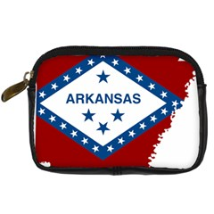 Flag Map Of Arkansas Digital Camera Leather Case by abbeyz71