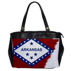 Flag Map Of Arkansas Oversize Office Handbag by abbeyz71