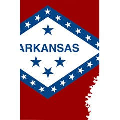 Flag Map Of Arkansas 5 5  X 8 5  Notebook by abbeyz71