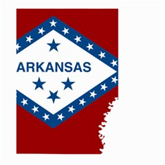 Flag Map Of Arkansas Large Garden Flag (two Sides) by abbeyz71