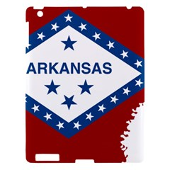 Flag Map Of Arkansas Apple Ipad 3/4 Hardshell Case by abbeyz71