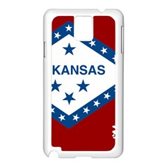 Flag Map Of Arkansas Samsung Galaxy Note 3 N9005 Case (white) by abbeyz71