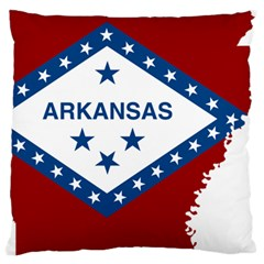 Flag Map Of Arkansas Large Flano Cushion Case (two Sides) by abbeyz71