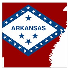 Flag Map Of Arkansas Large Satin Scarf (square) by abbeyz71