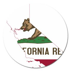 California Flag Map Magnet 5  (round) by abbeyz71