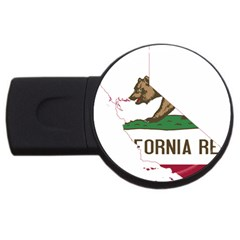 California Flag Map Usb Flash Drive Round (2 Gb) by abbeyz71