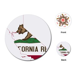 California Flag Map Playing Cards (round) by abbeyz71