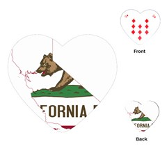 California Flag Map Playing Cards (heart) by abbeyz71