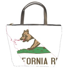 California Flag Map Bucket Bag by abbeyz71