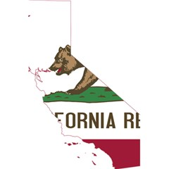 California Flag Map 5 5  X 8 5  Notebook by abbeyz71
