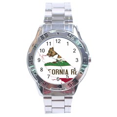 California Flag Map Stainless Steel Analogue Watch by abbeyz71