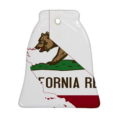 California Flag Map Bell Ornament (two Sides) by abbeyz71