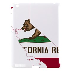 California Flag Map Apple Ipad 3/4 Hardshell Case (compatible With Smart Cover) by abbeyz71