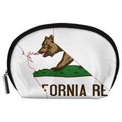 California Flag Map Accessory Pouch (large) by abbeyz71