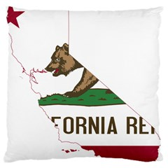 California Flag Map Large Flano Cushion Case (two Sides) by abbeyz71